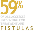 59 Percent of All Accesses Presenting For Treatment are Fistulas